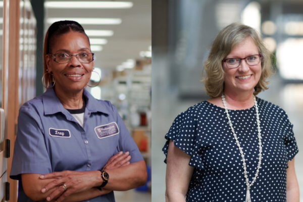 Inez Edwards, Debbie Pfeiffer honored with Operations Staff Service Awards