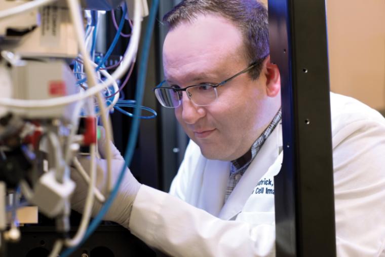 James Fitzpatrick looks at a Titan Krios cryo-transmission electron microscope